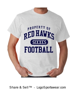 Red Hawks Short Tee Design Zoom